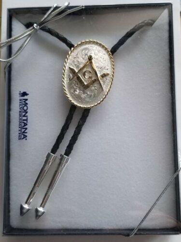 Bolo with Square and Compass Montana Silversmith Masonic Mason