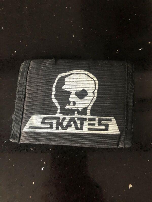 Vintage 1980s Skull Skates Wallet Skateboarding Punk Original