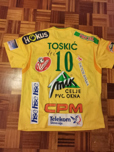 ALEM TOSKIC  Match Worn Jersey Handball club RK Celje Slovenia with Autograph