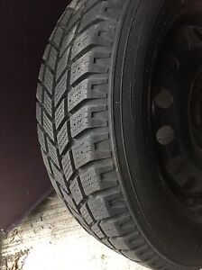 Two snow tires with rims 195/60/R15  2005 Ford Focus. London Ontario image 2
