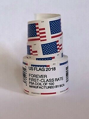 US Forever Flag Postage Stamps roll of 100 FAST FREE SHIPPING! SEALED