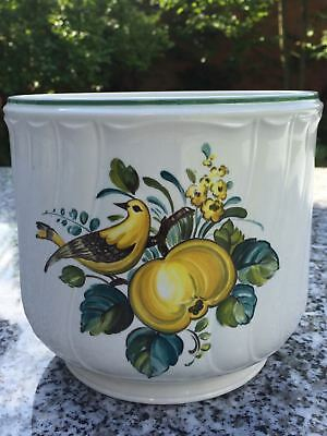 Villeroy&Boch Jamaica Ceramic Vintage Floral Marked Cache-Pot Made in Luxembourg