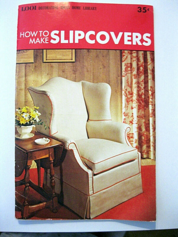 Conso HOW TO SEW SLIPCOVERS 1970s 32pg sewing booklet small format