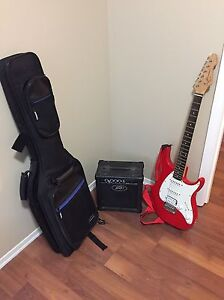 PEAVEY RAPTOR ELECTRIC GUITAR KIT WITH AMP & CASE - MINT SHAPE!!