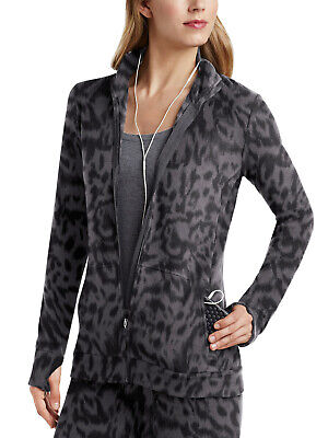 Cuddl Duds Women's Fleecewear with Stretch Long Sleeve Zip-Up - Animal Print - Animals With Womens