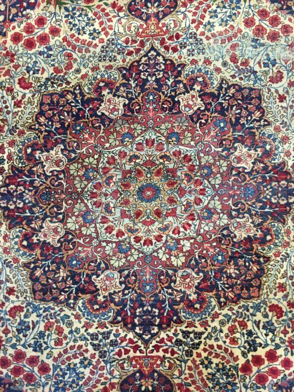 Lavish Lavar Kerman - 1920s Antique Persian Kermanshah - Ravar Rug 8.3 X 11 Ft.