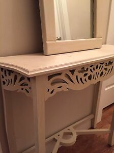 MOVING SALE - Entry/Hallway Table and Mirror
