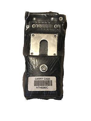 Motorola Carry Case Ntn8380c High-activity Leather Holster Radio