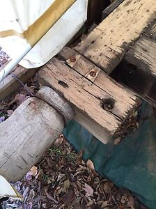 """Antique vintage work bench 9ft X 22"""" with two screw vises Kingston Kingston Area image 3"""
