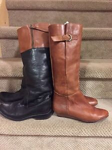 Women's all leather Steve Madden boots size 8 Cambridge Kitchener Area image 1