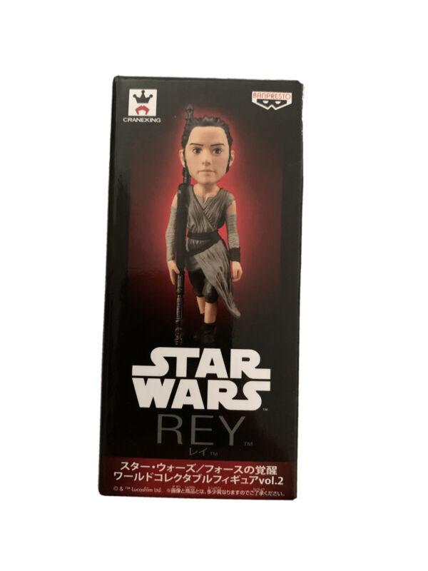 Disney Star Wars World Collectable Figure vol.2 Rey Banpresto WCF Japan Rare
