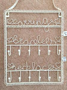 Joyer a colgador de pared soporte collares pulseras pendientes metal ebay - Colgador de collares ikea ...