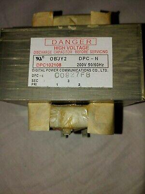 Turbochef Ngc-3062-3 Hv Transformer 200v 5060hz