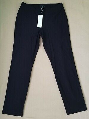 Eileen Fisher Women's Washable Stretch Crepe Slim Ankle Pants Small NWT $168 Black Stretch Crepe