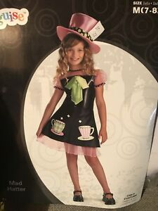 Girls Mad Hatter Halloween costume - NEW