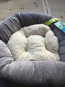 NEW ROUND MEMORY FOAM DOG BED
