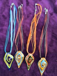 Murano Glass Blown Necklaces