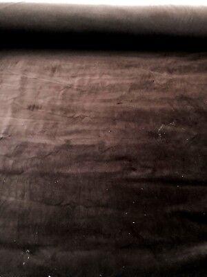 Dark Brown 100% COTTON VELVET Fabric BY THE YARD
