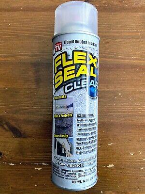 Brand New Flex Seal Clear Liquid Rubber Spray Sealant Coating 14 Oz