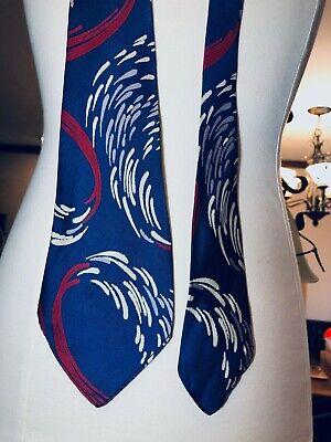 New 1930s Mens Fashion Ties VINTAGE 1930'S-50'S Men's Silk Neck Tie Nobility Custom Swirl Splash Design VT13 $44.50 AT vintagedancer.com