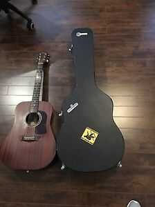 Washburn WD 18SW Acoustic guitar and case.