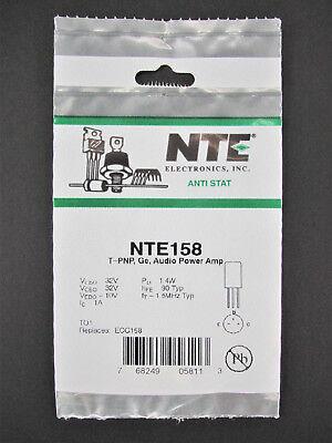 Audio Power Amp - Germanium Pnp Transistor - 32v 1a 1.4w - To1 - Nte158 Ecg158