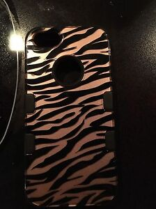 Lifeproof and rose gold zebra print iPhone 5 cases
