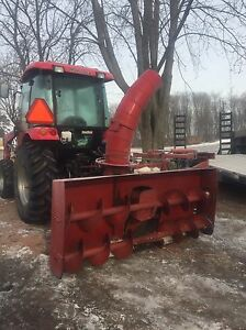Mckee snowblower 7' double auger