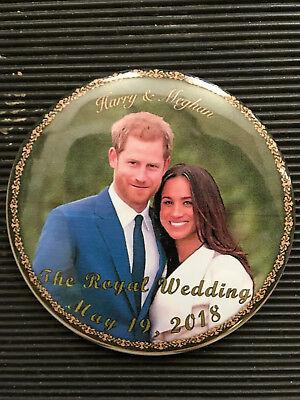 Prince Harry Meghan Markle Button Royal Wedding Souvenir 3  Round