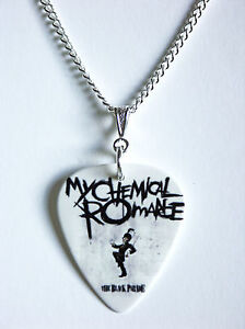 MY CHEMICAL ROMANCE GUITAR PLECTRUM PICK NECKLACE NEW 1a