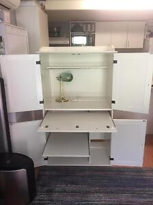 White Cabinet with desk Rowville Knox Area Preview