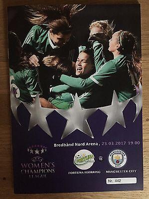 Fortuna Hjorring v Manchester City Women FC Football Programme (Season 2017)