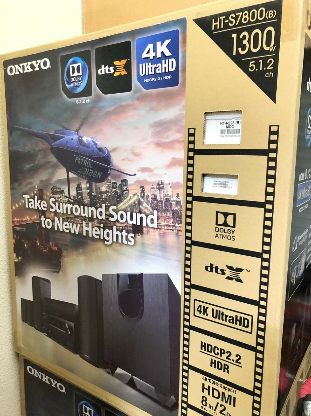 Onkyo HT-S7800 5.1.2 Channel Network Dobly Atmos Home Theate
