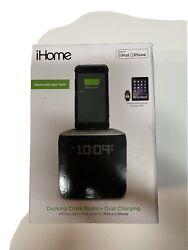 iHome iPL24GC Alarm Clock FM Radio Lightning iPhone Charging Dock - Grey - NEW!