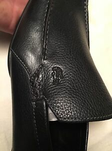 Brand new black leather Lacoste loafers - $75 - size 13 Oakville / Halton Region Toronto (GTA) image 2