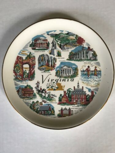 Virginia collectible plate decorative 7 inch