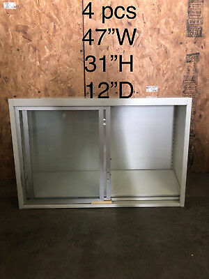 """Used, Lab Casework Overhead Cabinet, White/Silver, 47""""x31""""x12"""" deep for sale  Philadelphia"""