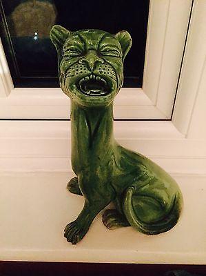 Very Rare Majolica Watcombe Torquay Grotesque Howling Anthropomorphic Cat 1920s