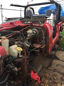 1997 Jeep tj remaining parts including engine and driveline