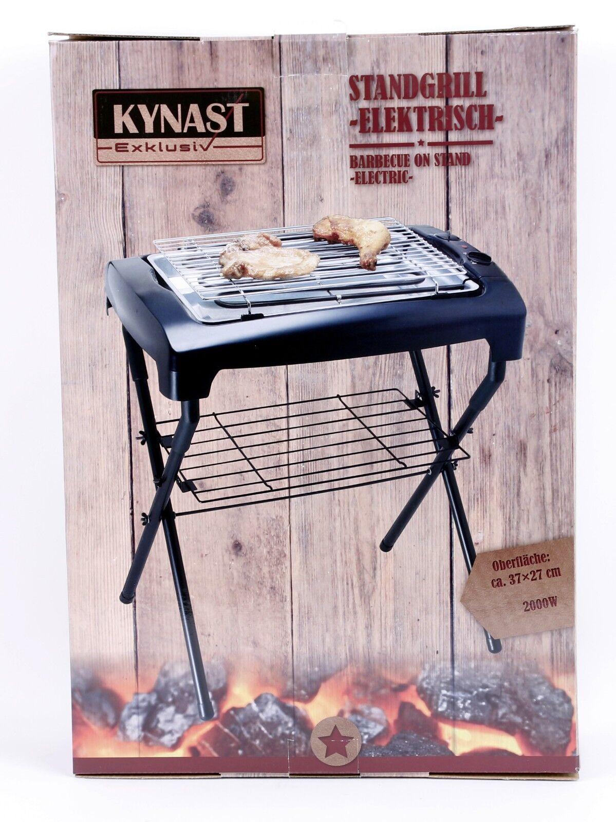 Kynast Tischgrill mit Ständer elektrisch 2000W Elektrogrill Barbecue Elektrisch