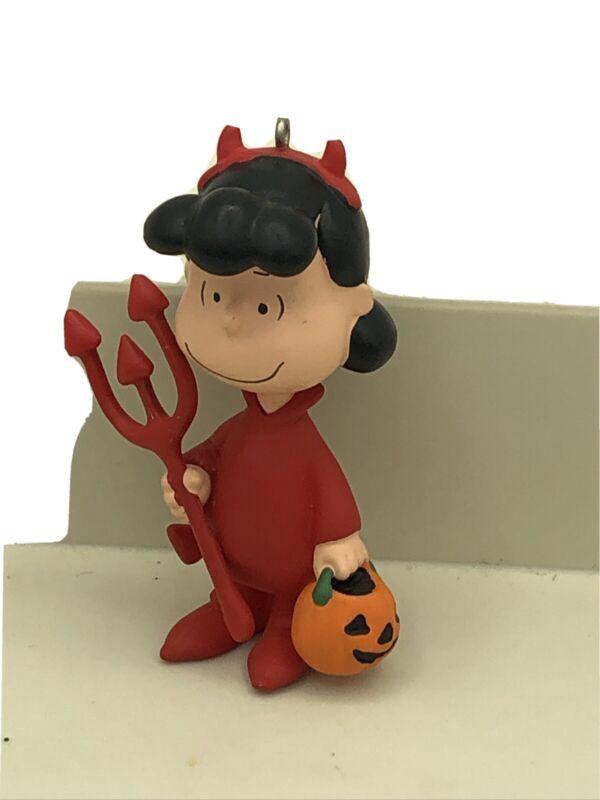 Hallmark Keepsake Halloween Ornament Devil May Care Lucy the Peanuts Gang 2010