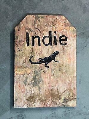 Personalized, Slate, Engraved Pet Memorial Head Stone, Cat, Dog, Lizard