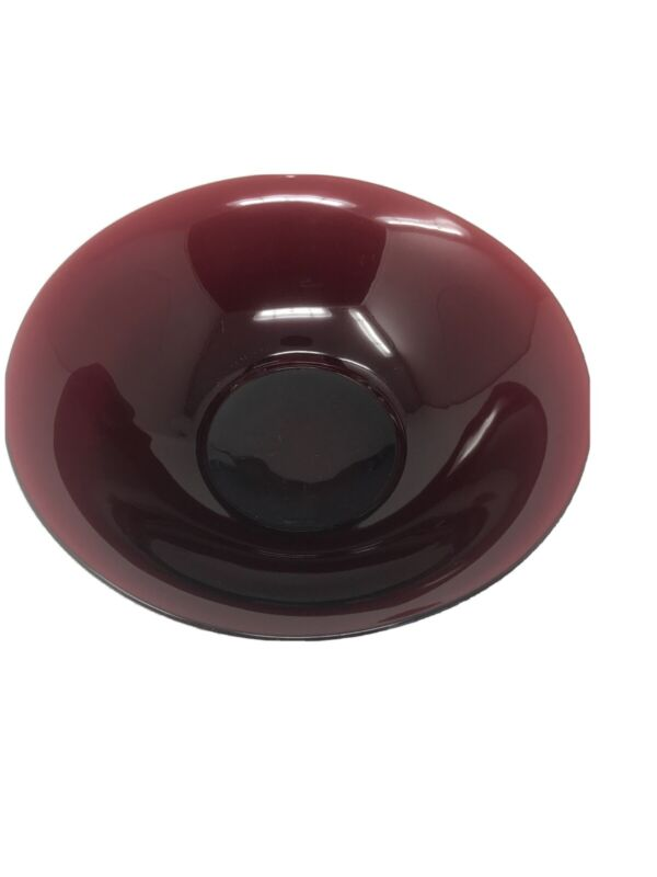 Vintage Anchor Hocking Ruby Red Glass Serving Bowl 11 Inch