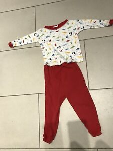 Fruit of the loom boy girl baby toddler pajamas 12-18 month