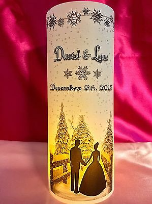 10 Personalized Wedding Luminaries Table Centerpieces Decor Winter Snowflakes #3 - Snowflake Wedding Centerpieces
