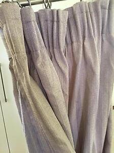 Free gray beige brown curtains New Lambton Newcastle Area Preview