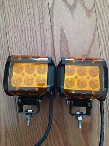 Cree LED off road lights with Amber covers