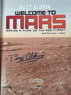 Buzz Aldrin hand signed book Welcome To Mars Hardback Edition