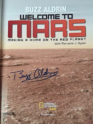 Buzz Aldrin hand signed book Welcome To Mars HardbackEdition WITH video evidence