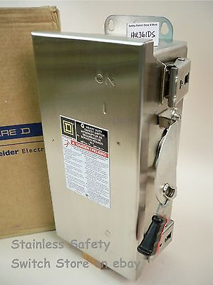 Square D Stainless Hu361ds 30amp 600v Non-fused Safety Switch 29 Available New